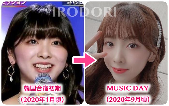 比較画像(韓国合宿→MUSICDAY)