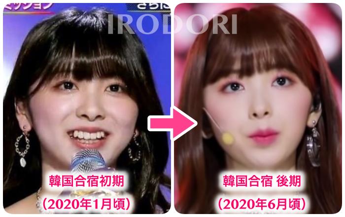 比較画像(韓国合宿初期→後期)