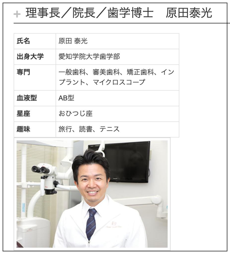 はらだ歯科クリニック理事長