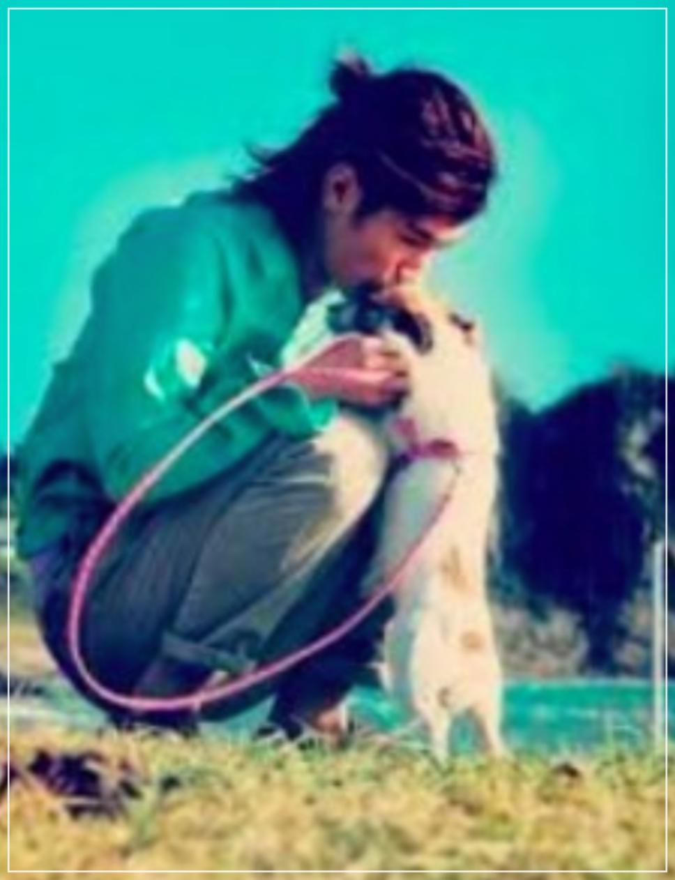三浦春馬と愛犬コムギ