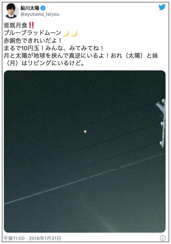 鮎川太陽の妹は月?