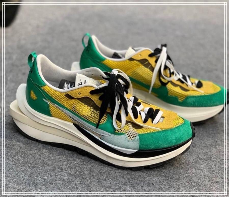 イエローグリーン靴