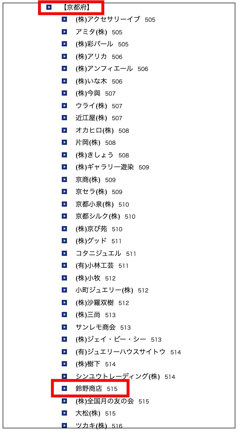 京都のジュエリー店に鈴野商店が出てくる