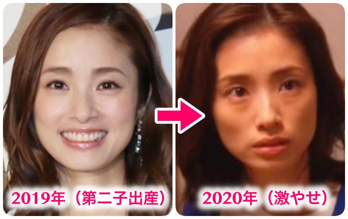 上戸彩(2019年と2020年比較)