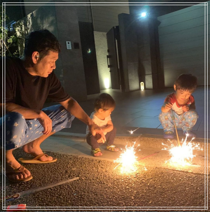 子供と花火