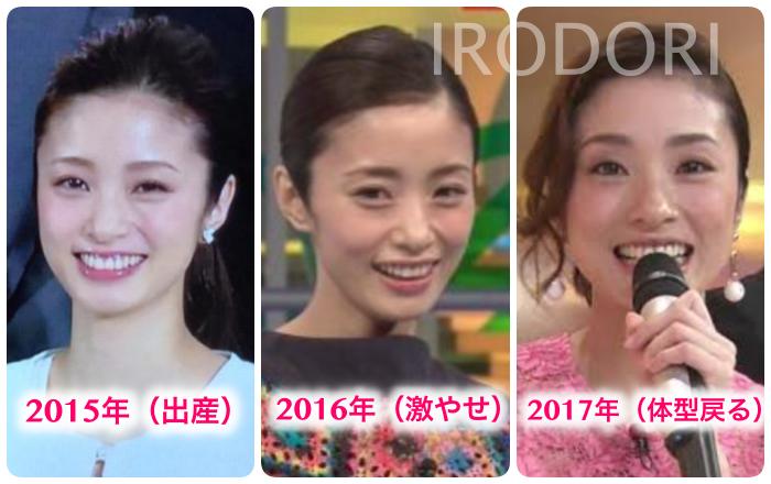 2015〜2017年比較画像(上戸彩)