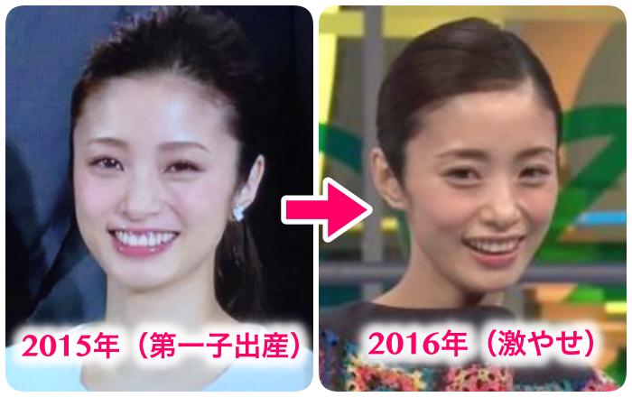 2015年、2016年比較画像(上戸彩)
