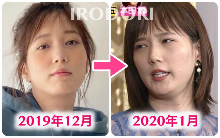 比較画像(12月と1月)