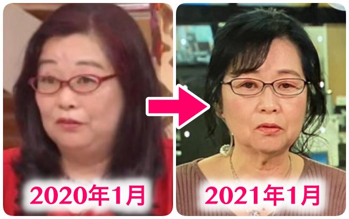 岡田晴恵の一年の変化